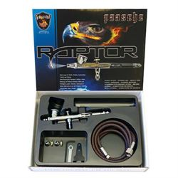 Paasche Raptor Gravity Feed Double Action Set w/ .25, .38 and .66mm heads