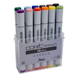 Copic Sketch Set of 12 of Basic