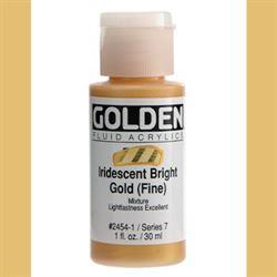 Golden Fluid Ser. 7, 8 oz. Iridescent Bright Gold Fine