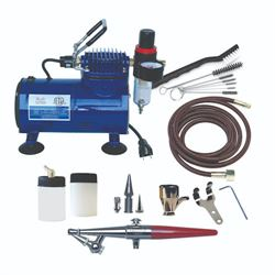 Paasche H-SET Airbrush , D500SR Compressor & AC-7 Cleaning Kit