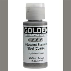 Golden Fluid Ser. 5, 8 oz. Iridescent Stainless Steel Coarse