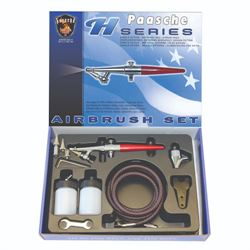 Paasche Airbrush Set with Metal Handle (.45, .65, & 1.05mm heads)