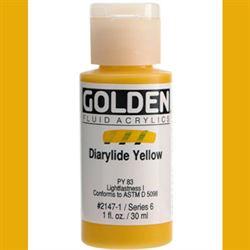 Golden Fluid Ser. 6, 8 oz. Diarylide Yellow