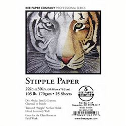 """Disc Bee Paper Stipple / Coquil Paper 132 lb. 22"""" X 30"""""""