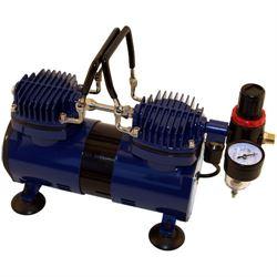 Paasche Dual Head 1/4 H.P. Compressor w/ Auto Shutoff & Regulator