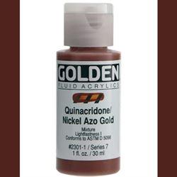 Golden Fluid Ser. 7, 8 oz. Quinacridone Nickel Azo Gold