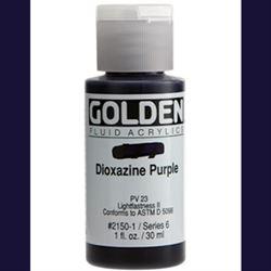 Golden Fluid Ser. 6, 8 oz. Dioxazine Purple