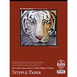 "Bee Paper Pad Stipple Paper 9"" X 12"""