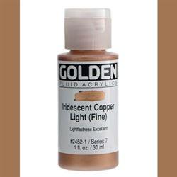 Golden Fluid Ser. 7, 8 oz. Iridescent Copper Light Fine