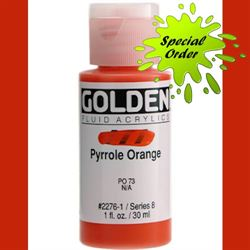 Golden Fluid Ser. 8, 8 oz. Pyrrole Orange